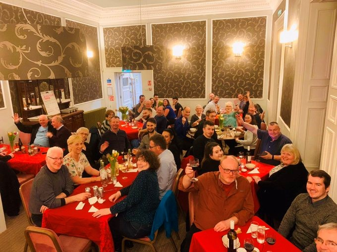 Burns night in the lounge January 2020